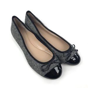 Bananan Republic Ballet Flats Size 11 Gray Tweed